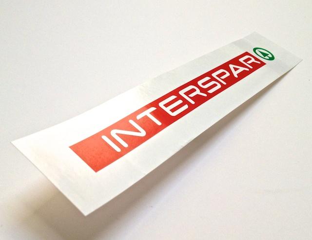 Samolepky Interspar