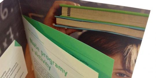 Firemní brožura lakování a tisk