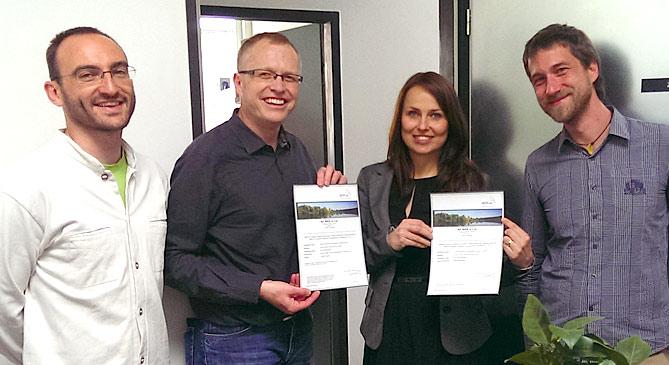 Předávání certifikátu uhlíkové stopy tiskárně AF BKK