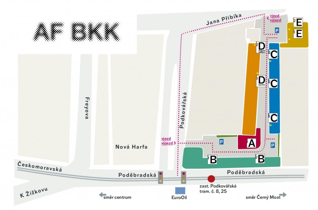 Mapa AFBKK
