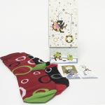Dárek - ponožky V PÁRU, vlastní design, patenty na přicvaknutí pro praní